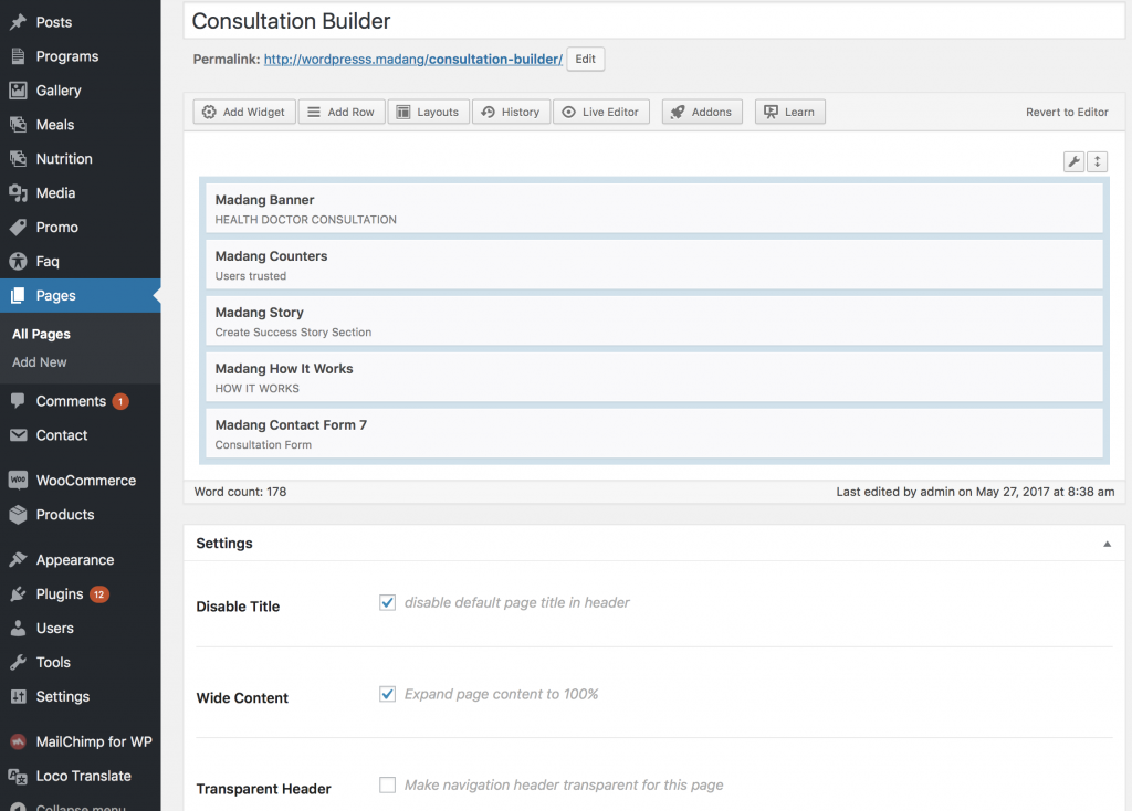 Creating consultation landing page with capture forms.