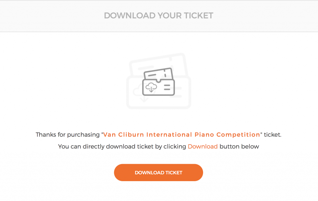 MyTicket theme - WordPress ticket download upon checkout