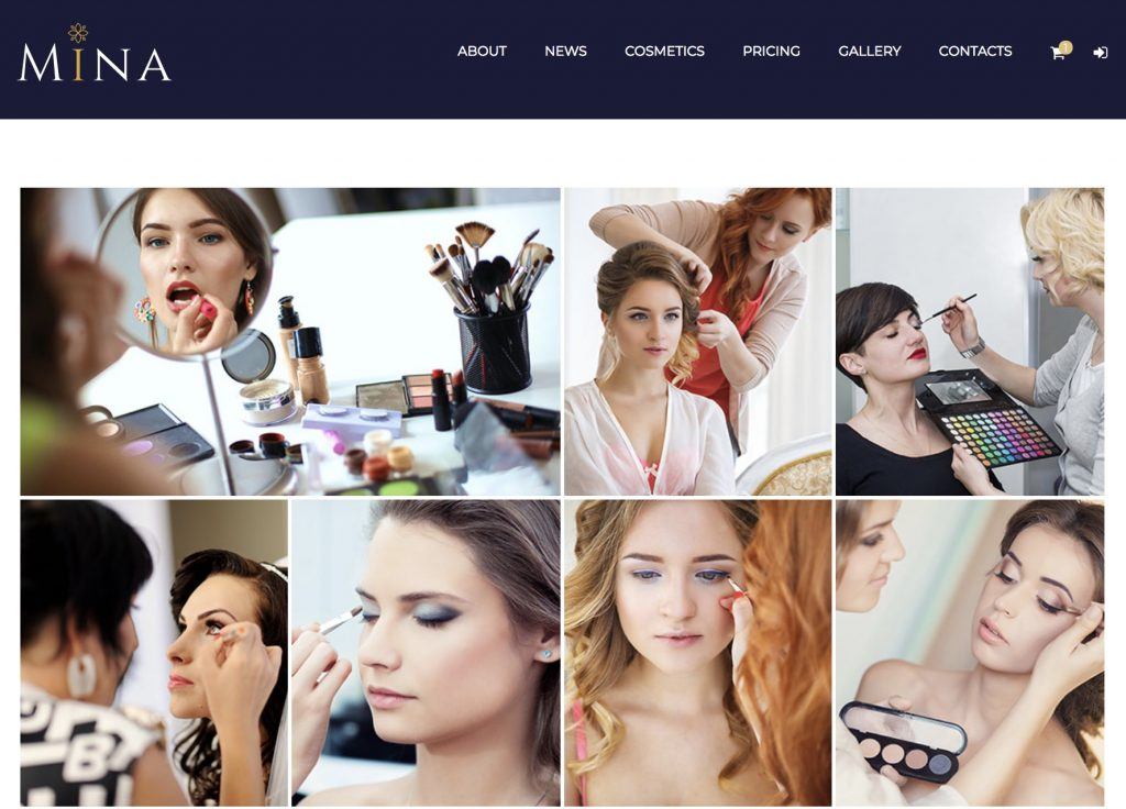 Mina theme - create attractive gallery pages