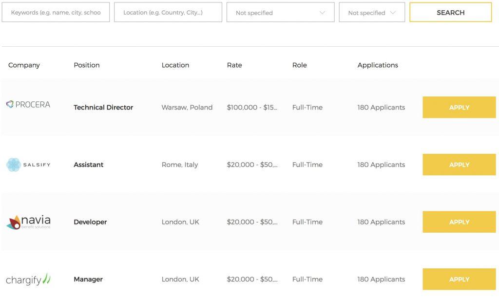 Sayidan theme - career opportunity page screenshot.
