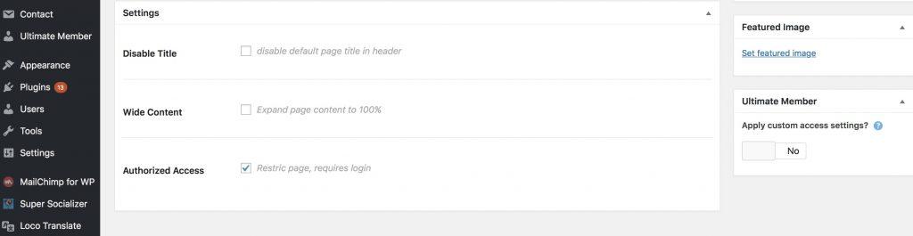 Sayidan theme - restrict alumni materials. WordPress admin.
