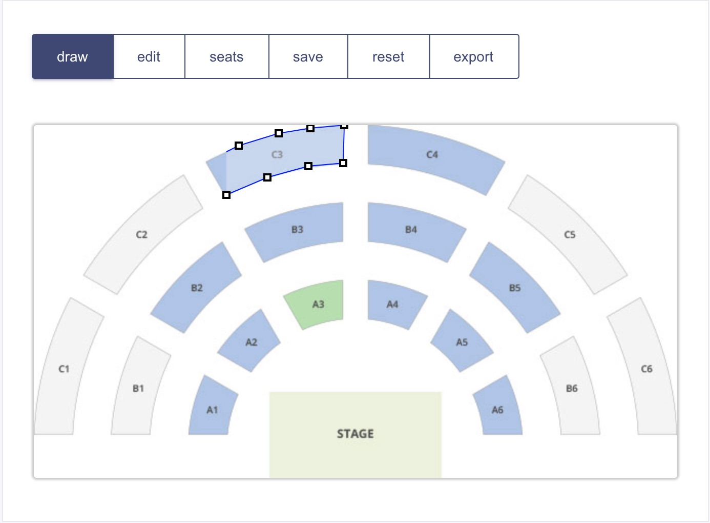 Draw Interactive Zones/Sections on Top of Layout Image - myticket account