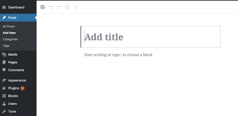 Creating New Gutenberg Blog Post