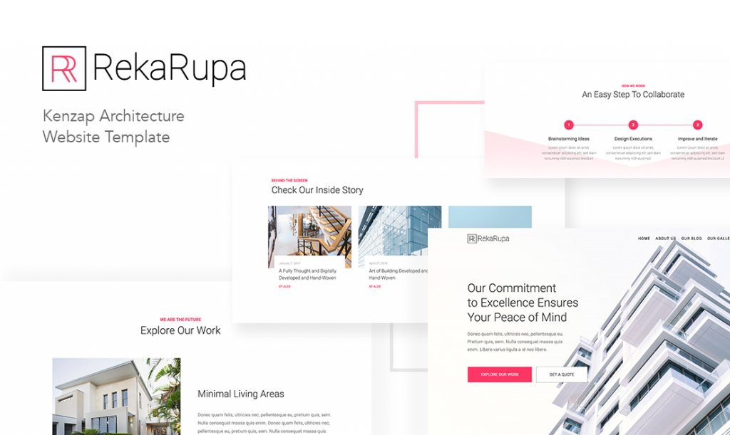 Website for Architecture Agency in WordPress preview.
