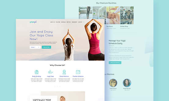 YogaYuk WordPress theme for yoga classes and instructors of Kenzap